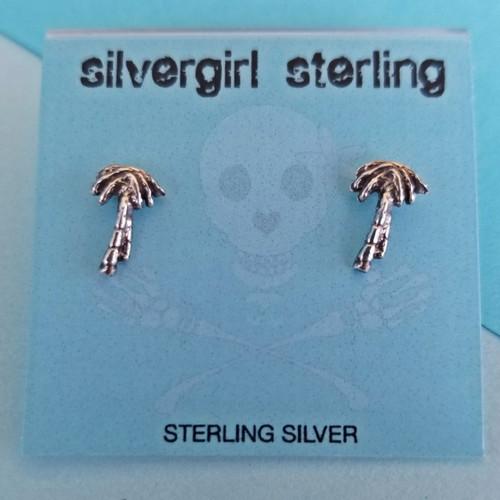 Palm Tree Tiny Post Earrings