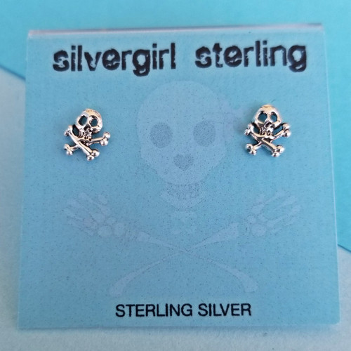 Skull & Crossbones Tiny Post Earrings