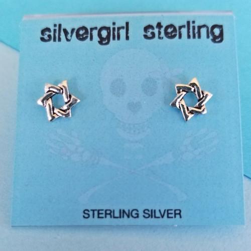 Star of David Tiny Post Earrings
