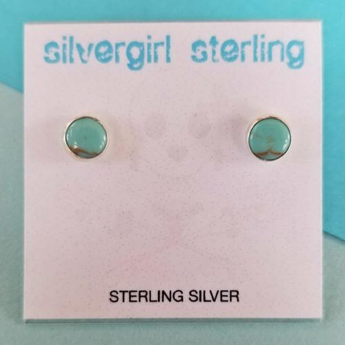 Light Turquoise Tiny Post Earrings