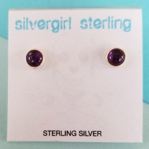 Amethyst Tiny Post Earrings