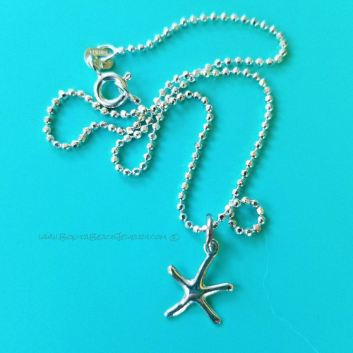 Sea Life Charm Anklet - Starfish | Sterling Silver Sea Life Anklet