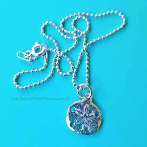 Sea Life Charm Anklet - Sand Dollar | Sterling Silver Sea Life Anklet