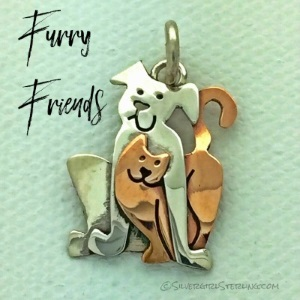 Best Buddies sterling silver cat and dog pendant | Sterling Silver Beach and Sea Life Jewelry