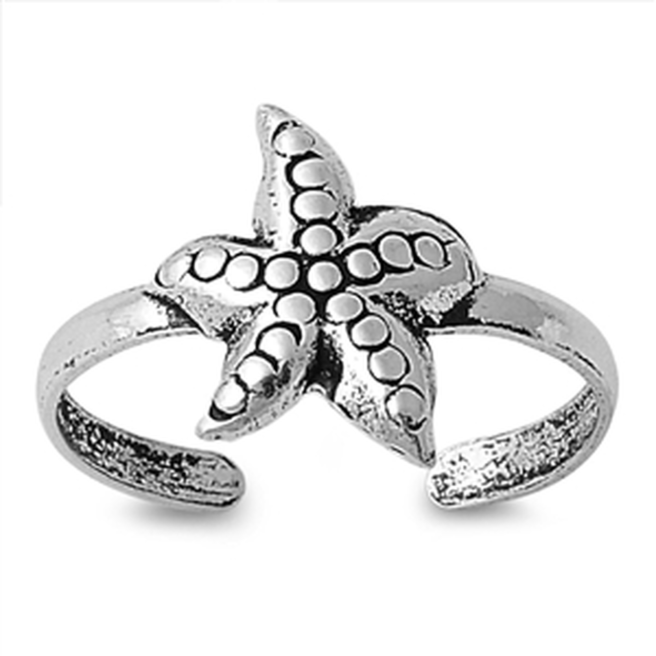 Sterling silver starfish toe ring | Sterling Silver Beach and Sea Life Jewelry