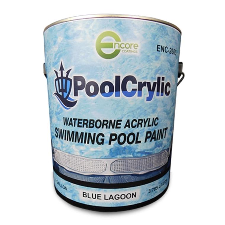 Poolcrylic Waterborne Pool Paint - Blue Lagoon - 1 Gallon
