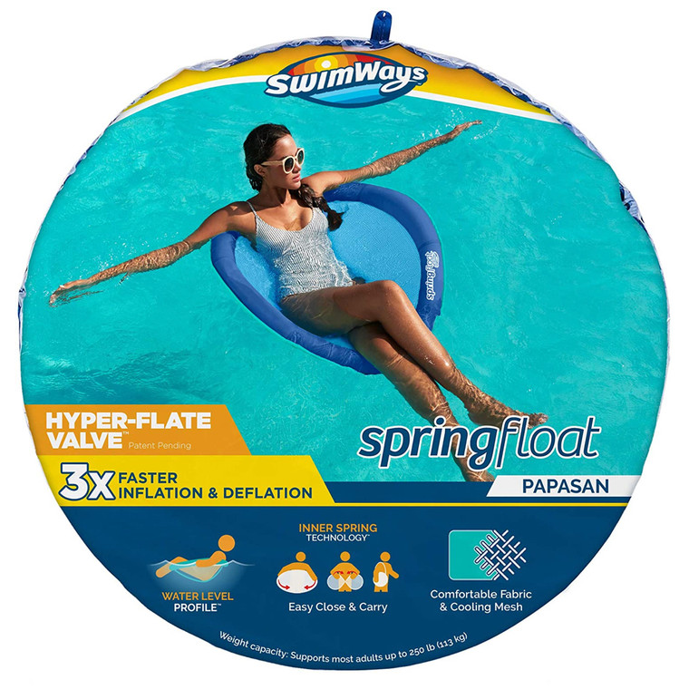 Swimways Spring Float Papasan with Hyper-Flate Valve