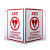 "AED Locator Sign ""V"" Shape"