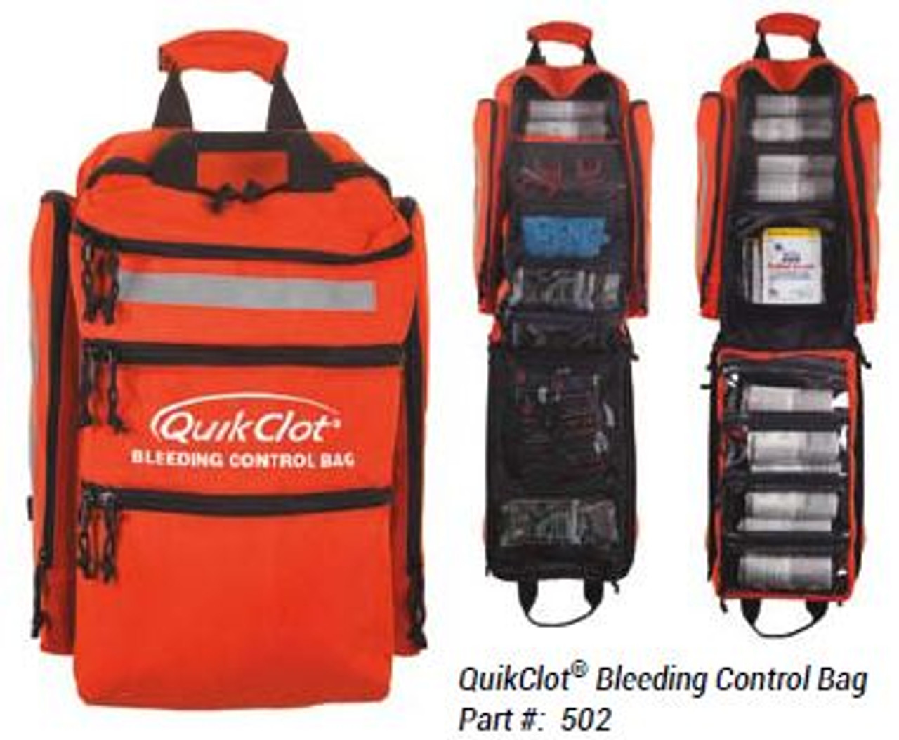 QuikClot Bleeding Control Bag (showing open bag)