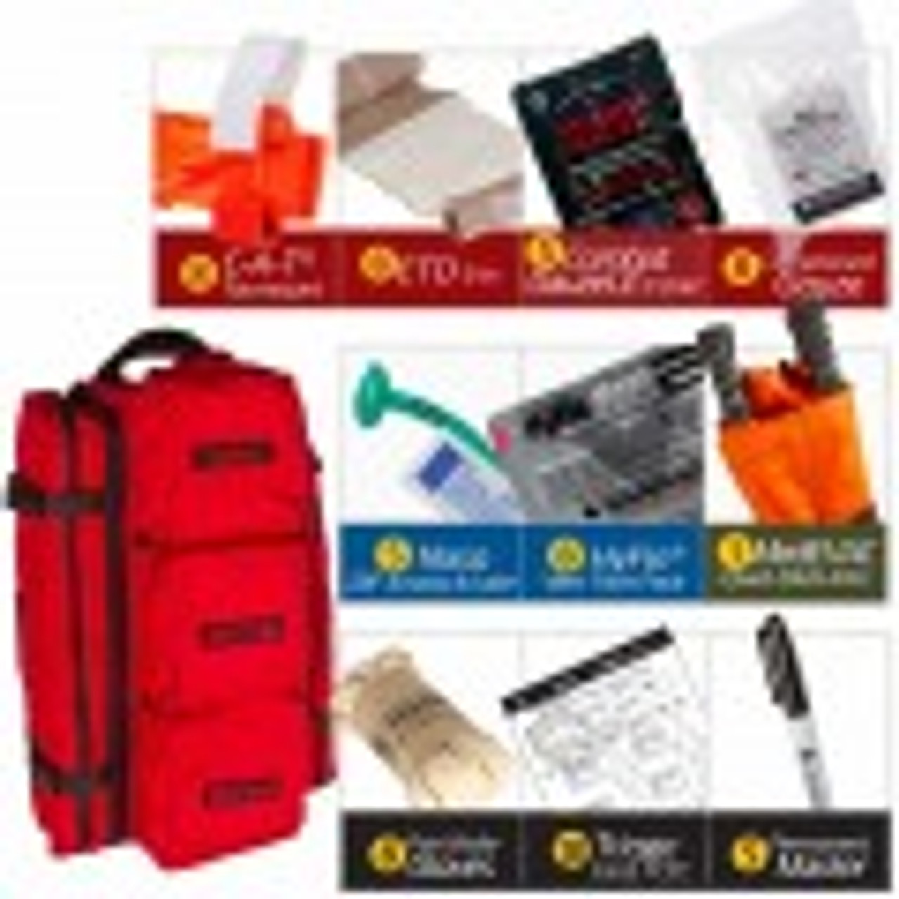 MCI Walk Kit, RED  (w MedEVAC Litter)