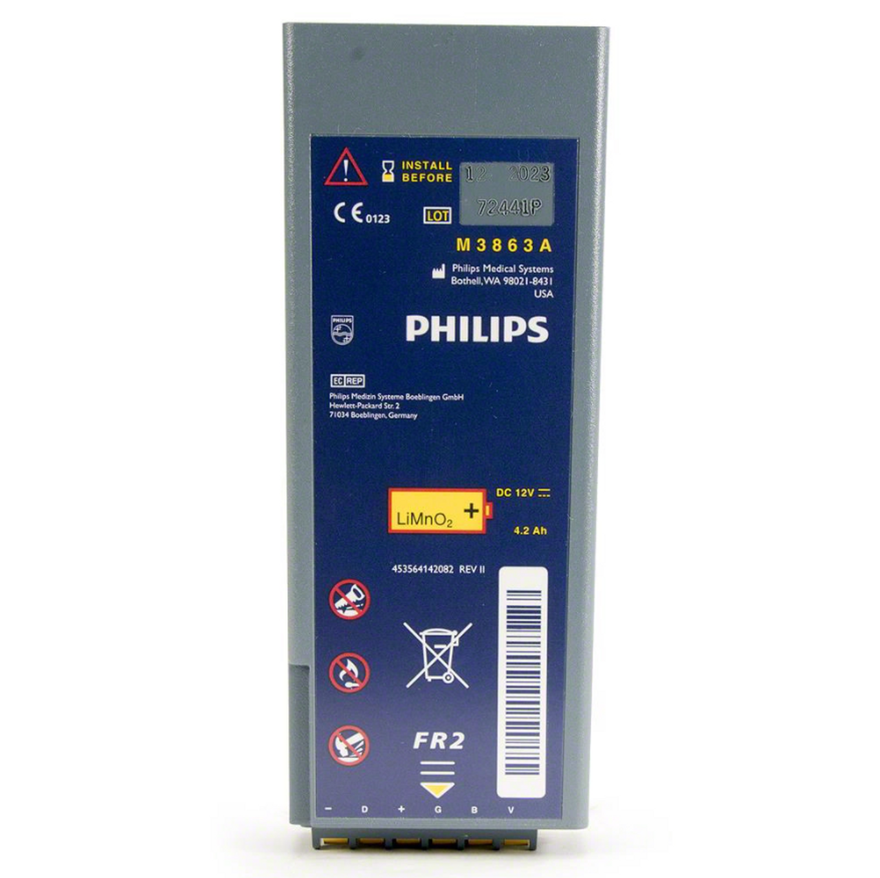Philips Battery - FR2 Series, Long-Life LiMN02 (M3863A)