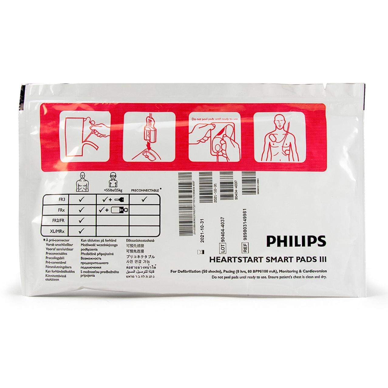 5 SET-Philips HeartStart FR3 Replacement Adult Smart Pads III (989803149991)