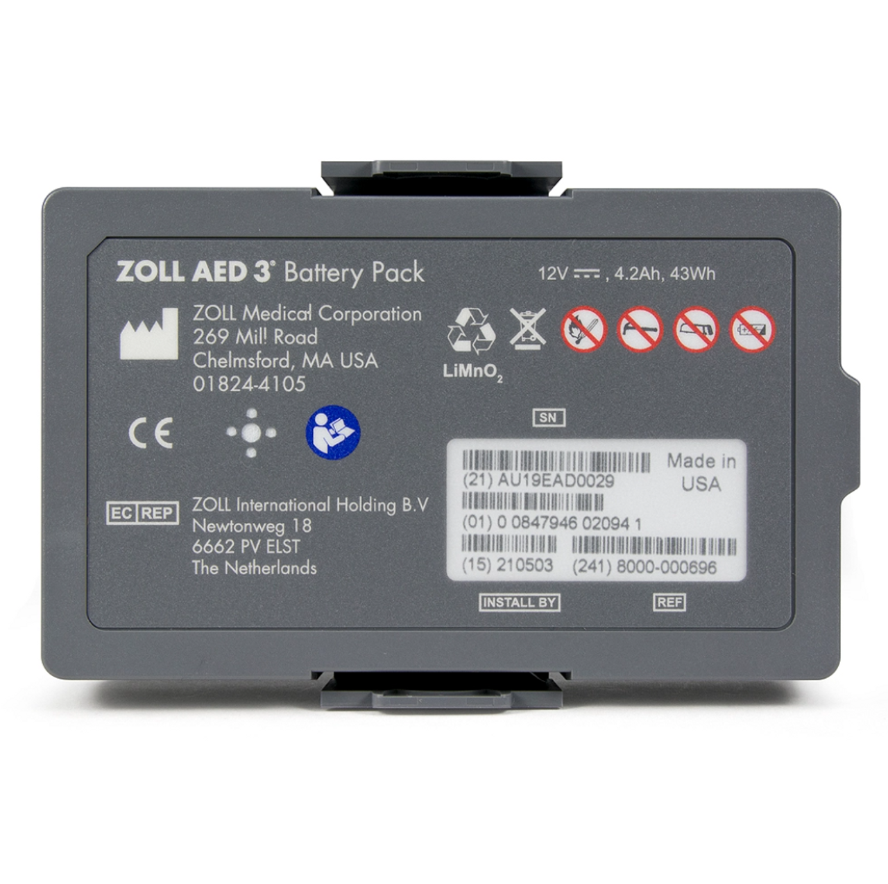 ZOLL® AED 3 Non-Rechargeable Lithium Battery
