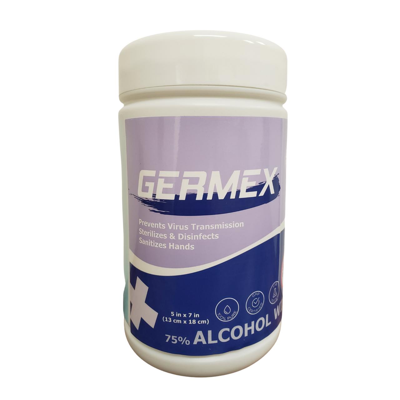 GERMEX Alcohol Wipes (Multi-Purpose, Anti-Bacterial)