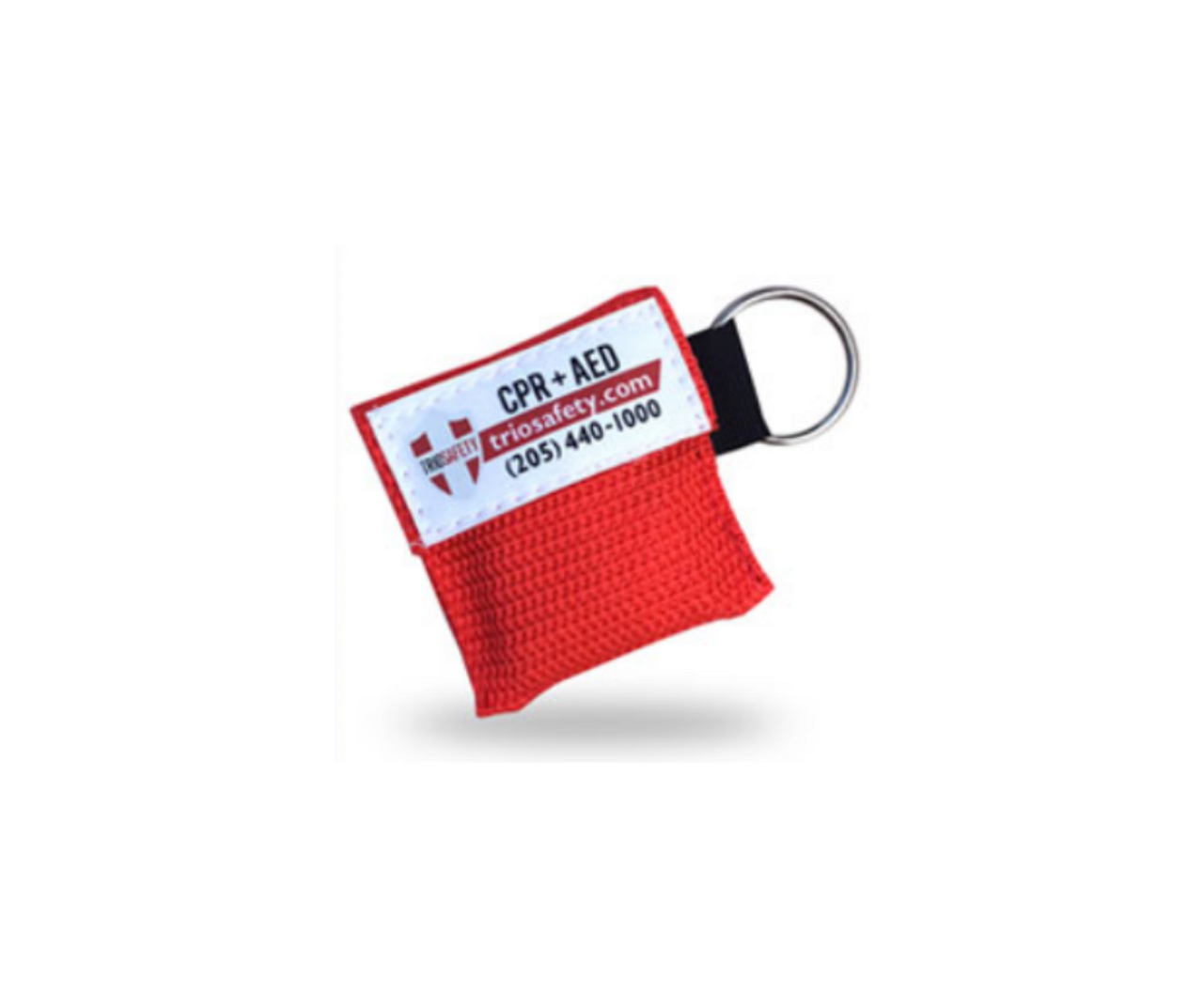 CPR Keychain Masks (branded Trio Safety CPR+AED) - 100 pack