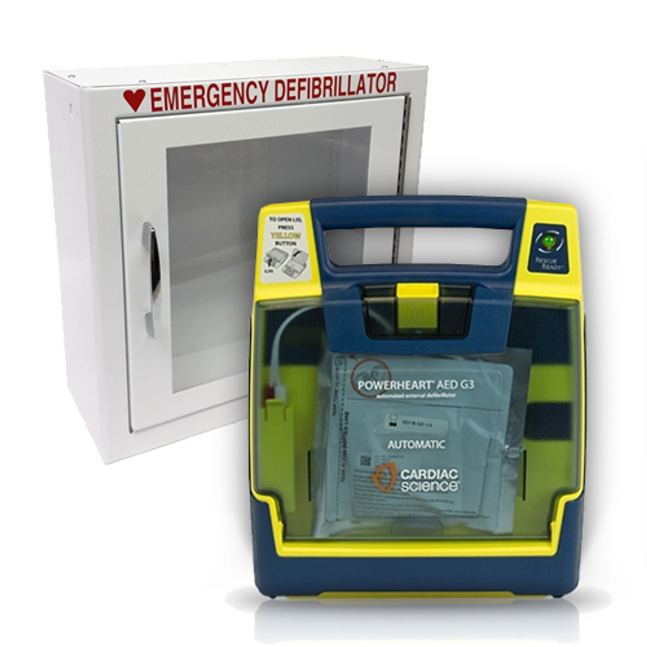 Cardiac Science Powerheart AED G3 Plus - includes standard cabinet