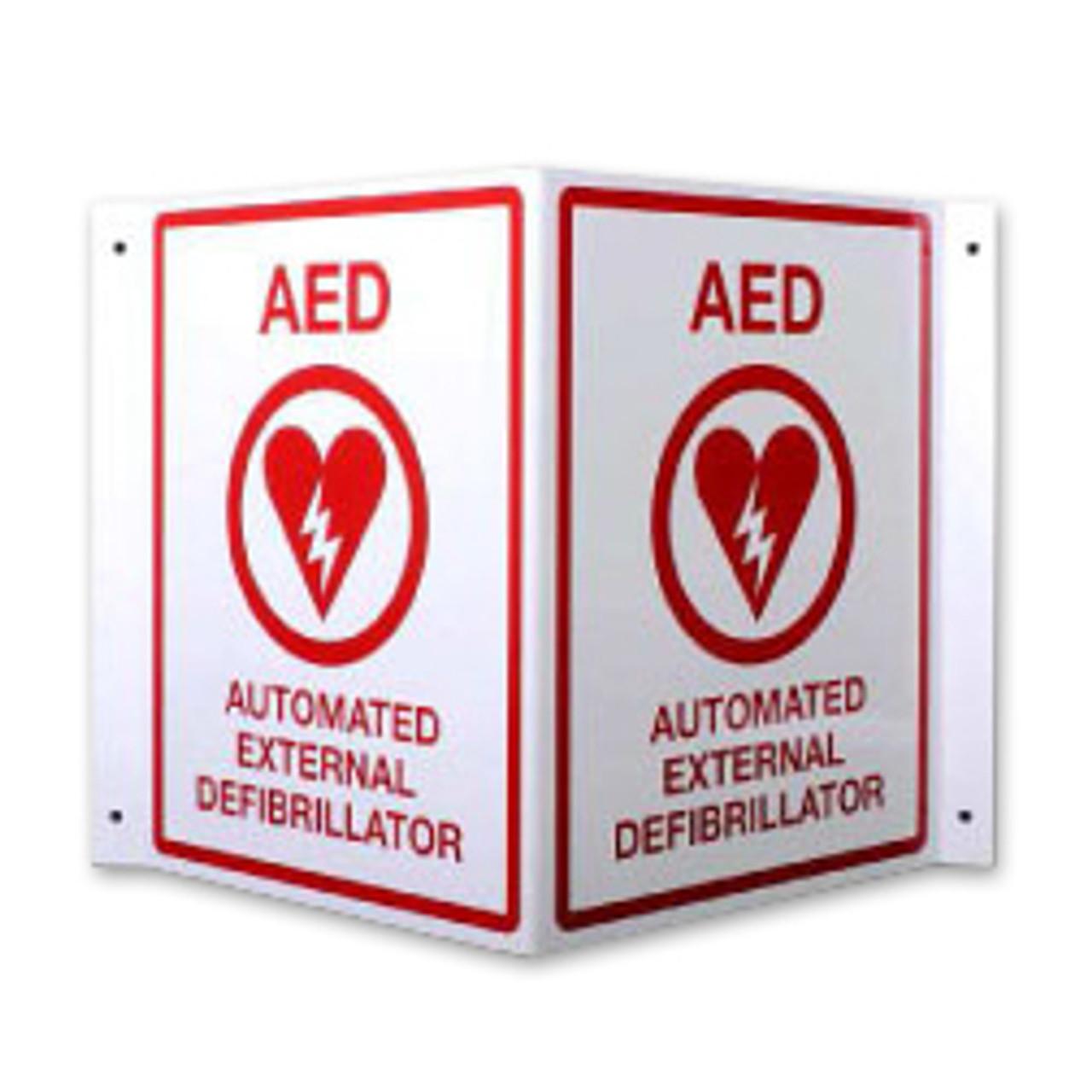 "AED Locator Sign ""V"" Shape"