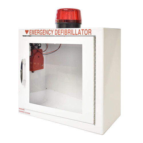 AED-MM-Wall Cabinet: Surface Mount with Alarm & Strobe