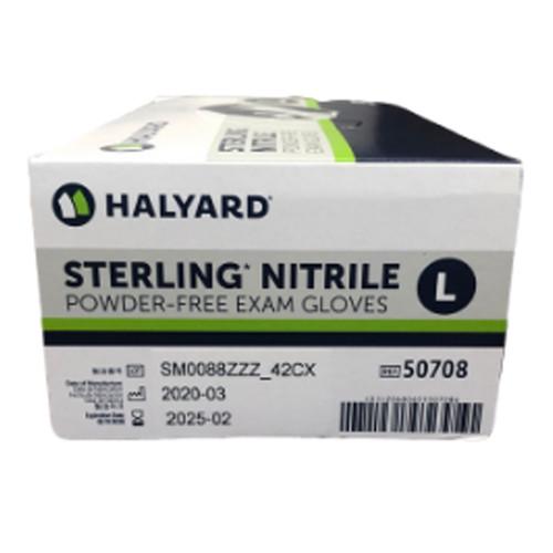 Halyard Sterling Nitrile Gloves-Size LARGE