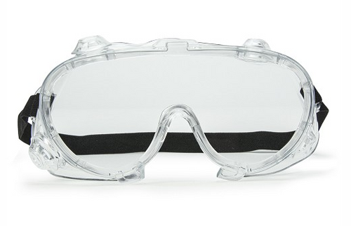 Splash Resistant Goggles w/Anti-Fog & Anti-Scratch Coating (Single) (AMP6340)