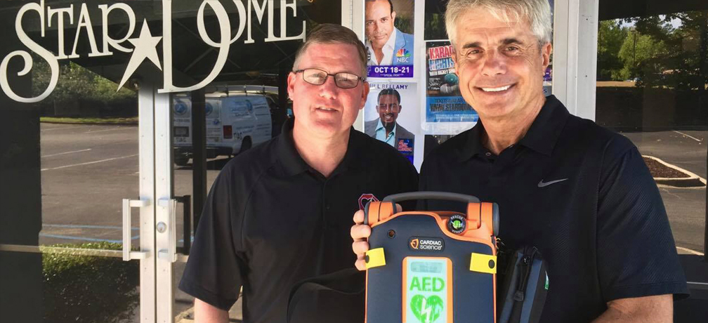 Stop Heart Attack equips the Star Dome Comedy Club with lifesaving AED