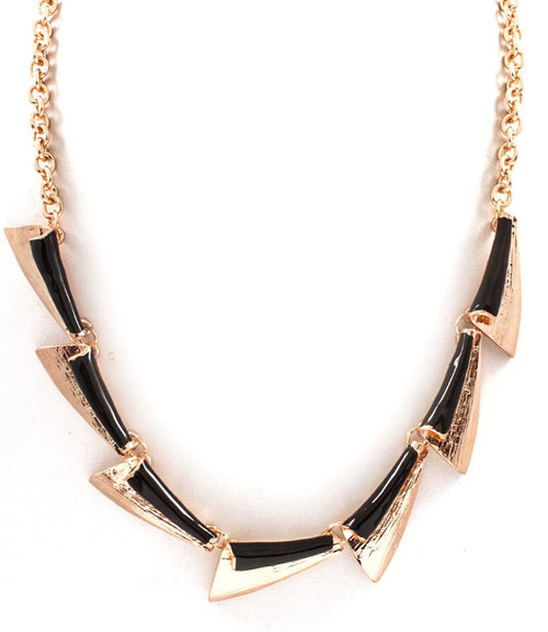 Black Fleck Necklace