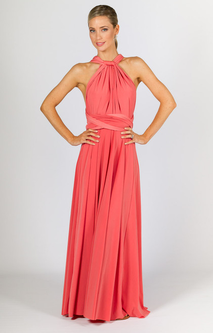Multi Way Wrap Maxi Dress - Watermelon