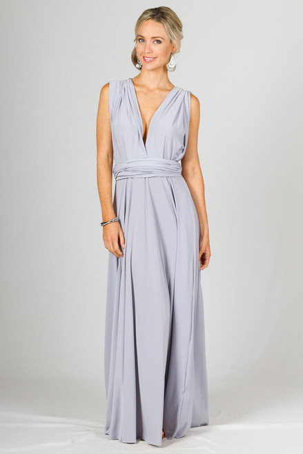 Multi Way Wrap Maxi Dress - Ash