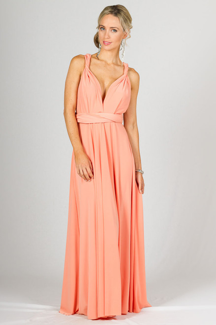 Multi Way Wrap Maxi Dress - Sherbet