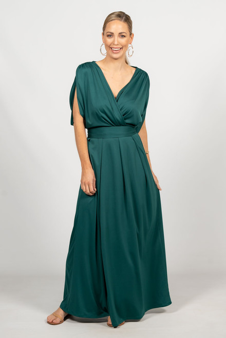 Batwing Style Maxi Dress - Emerald / RE-STOCKED