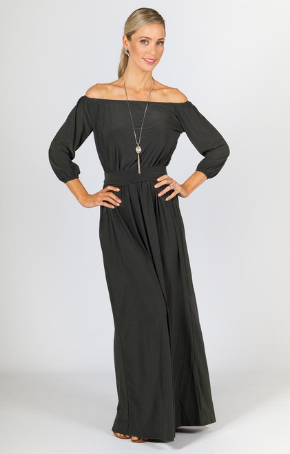 Sienna Maxi Dress - Grey Moss