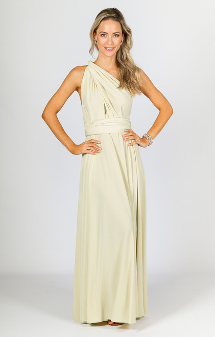 Multi Way Wrap Maxi Dress - Buttermilk