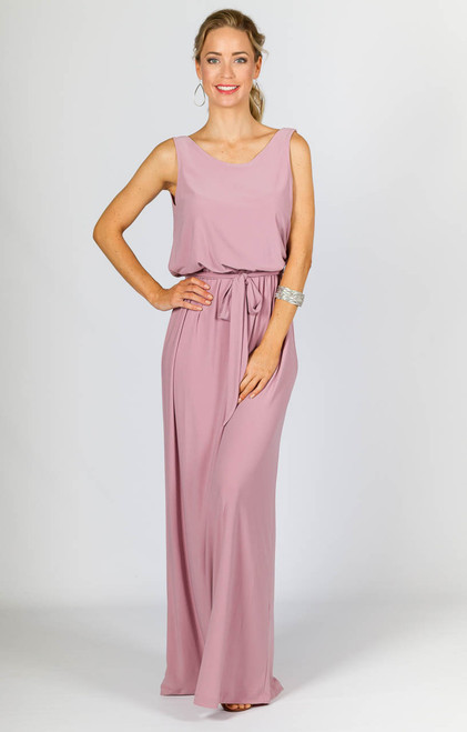 Tara Maxi Dress - Dusty Pink