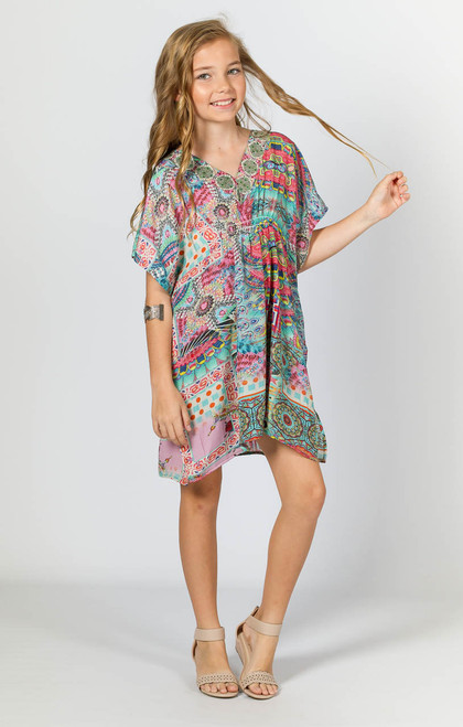 Caressa Girls Embellished Kaftan