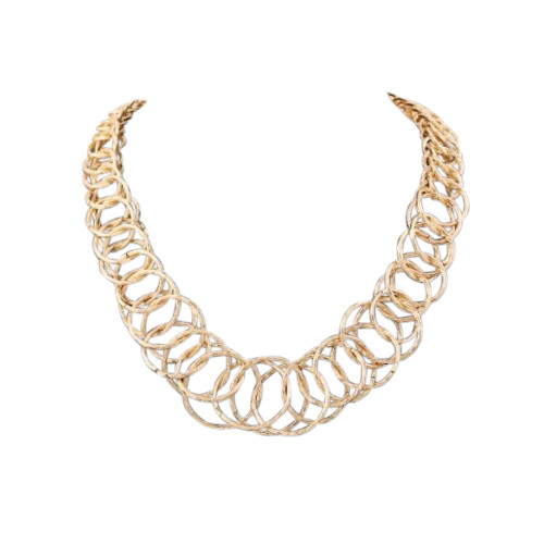 Gold Hoops Necklace