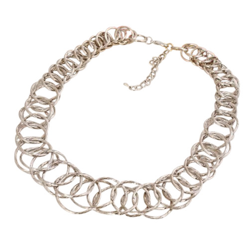 Silver Hoops Necklace