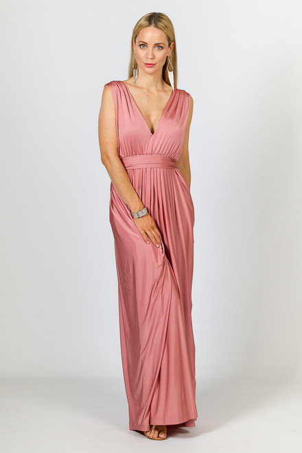 Aphrodite Luxe Maxi Dress - Rose