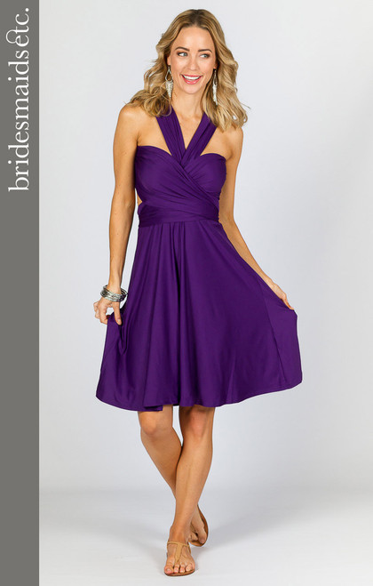 Bridesmaids Etc. Multi Way Wrap Midi - Purple