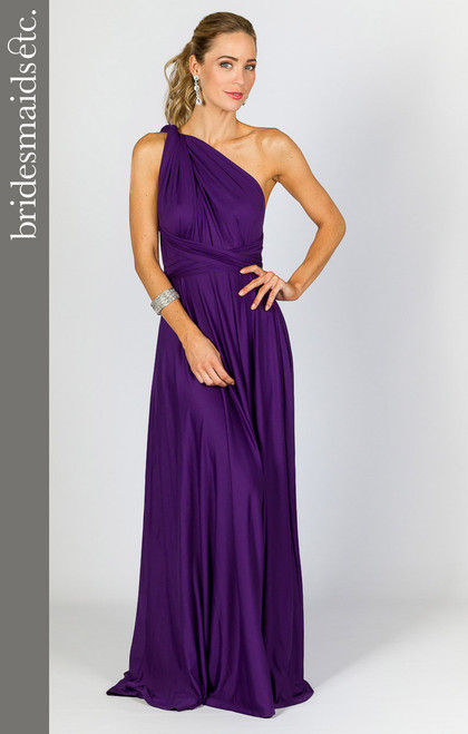 Bridesmaids Etc. Multi Way Wrap Maxi - Purple