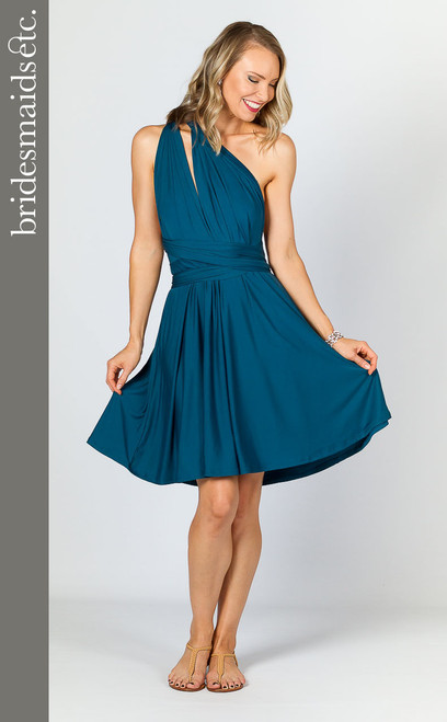 Bridesmaids Etc. Multi Way Wrap Midi - Pacific Blue
