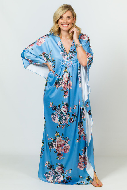 Keira Maxi Dress - Blue Floral