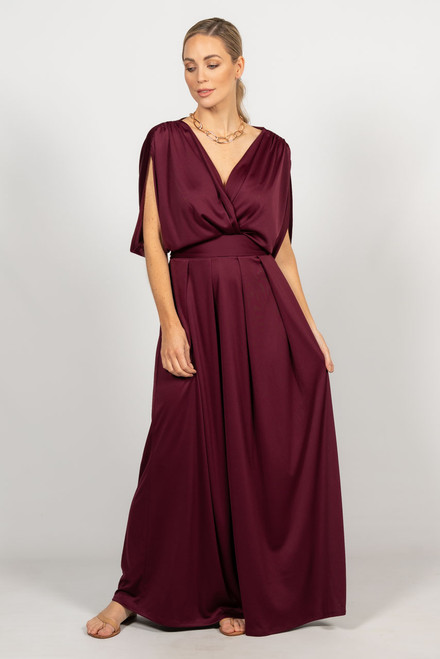Batwing Style Maxi Dress - Mulberry / RE-STOCKED