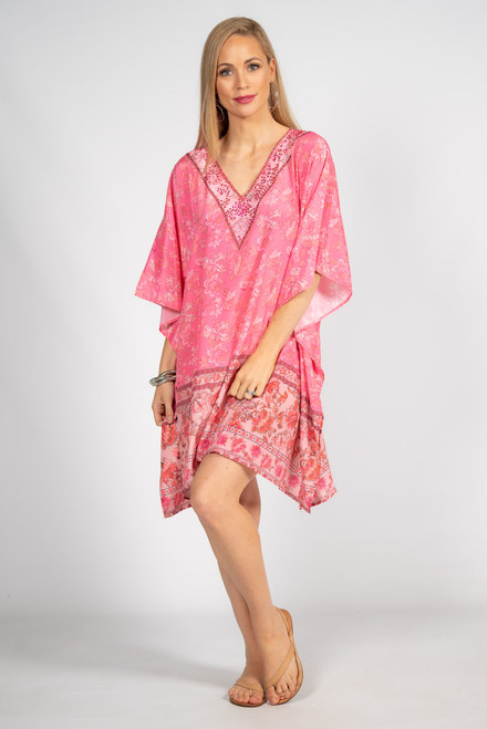 Poppy Embellished Kaftan - Short