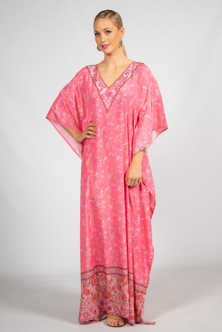 Poppy Embellished Kaftan - Long