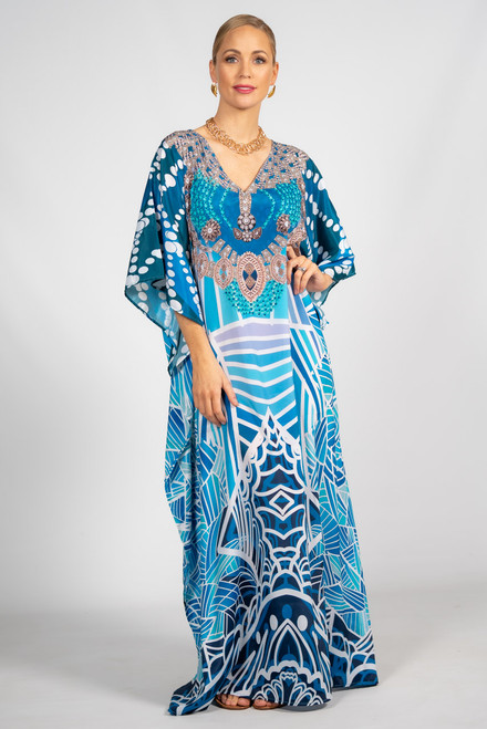 Indra Embellished Kaftan - Long