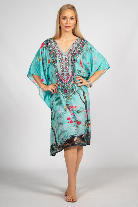 Aria Embellished Kaftan - Knee Length