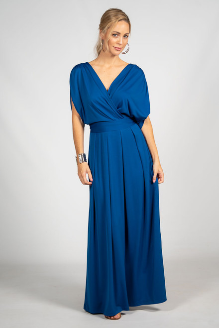 Batwing Style Maxi Dress - Royal Blue