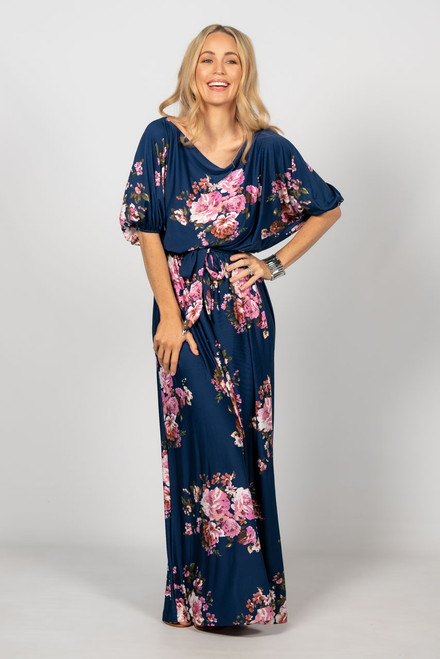 Cora Maxi Dress - Navy Floral / RE-STOCKED