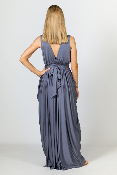 Aphrodite Luxe Maxi Dress - Steel