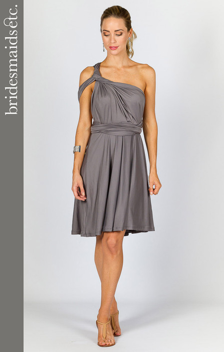 Bridesmaids Etc. Multi Way Wrap Midi - Pewter